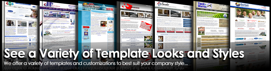 Check out the variety of template styles and options available with a PagePilot website
