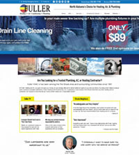 HVAC website - Fuller Heating, Air Conditioning and Plumbing in Muscle Shoals, AL - 256-381-7195  - is an example of a PagePilot HVAC website design