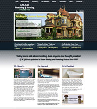 HVAC website - G.W. Gill Plumbing & Heating in - (440) 252-7120 - is an example of a PagePilot HVAC website design