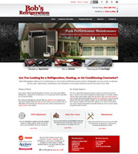 HVAC website - Bob's Refrigeration, Heating & Air Conditioning in Rockford, IL - (815) 398-7513 - is an example of a PagePilot HVAC website design