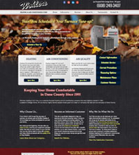 HVAC website - Wohlers Heating & Air Conditioning Corp. in Cottage Grove, WI - (608) 249-3407 - is an example of a PagePilot HVAC website design