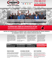HVAC website - TM Johnson Bros in Cambridge, MN - (763) 689-3141 - is an example of a PagePilot HVAC website design
