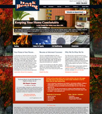 HVAC website - Haak Heating Inc. in Appleton, WI - (920) 734-6937 - is an example of a PagePilot HVAC website design