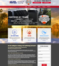 HVAC website - Avid Heating & Cooling in Minnetrista, MN - (952) 446-9975 - is an example of a PagePilot HVAC website design