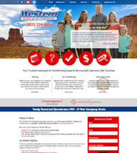 HVAC website - Western Heating & Air Conditioning in Orem, UT - (801) 224-8899 - is an example of a PagePilot HVAC website design