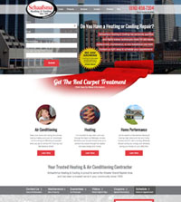 HVAC website - Schaafsma Heating & Cooling in Grand Rapids, MI - (616) 458-7304 - is an example of a PagePilot HVAC website design
