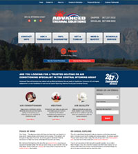 HVAC website - Advanced Thermal Solutions in Miles, WY - (307) 237-0332 - is an example of a PagePilot HVAC website design