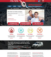 HVAC website - Affordable Heating & Air Conditioning in Greeley, CO - (970) 352-2820 - is an example of a PagePilot HVAC website design