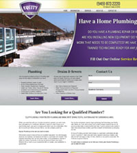 Plumbing website - Equity Plumbing & Drain in Tustin, CA - (949) 872-2220 - is an example of a PagePilot plumbing website design