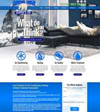 HVAC website - Arctic Bear Heating & Air in Endwell, NY - (607) 754-4235 - is an example of a PagePilot HVAC website design