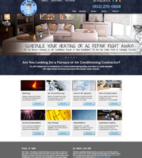 HVAC website - Air Jeff's in Mound, MN - (952) 270-0668 - is an example of a PagePilot HVAC website design