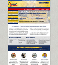 plumbing website - 1st Choice Plumbing in Parker, CO - (303) 841-1448 - is an example of a PagePilot plumbing website design
