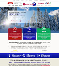 HVAC website - Accu-Temp Heating & Air Conditioning, Inc. in Howell, MI - (517) 548-1555 - is an example of a PagePilot HVAC website design