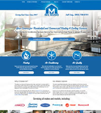 HVAC website - Ben Maines Air Conditioning, Inc. in Longview, TX - (903) 758-0701 - is an example of a PagePilot HVAC website design