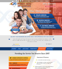 HVAC website - Infinity Texas Air & Electric in Forney, TX - (972) 564-8472 - is an example of a PagePilot HVAC website design