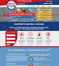 HVAC website - Courtney's Heating & Cooling in St. Louis, MO - (314) 481-9500 - is an example of a PagePilot HVAC website design