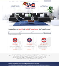 HVAC website - Total Air Comfort in Bohemia, NY - (631) 588-2200 - is an example of a PagePilot HVAC website design