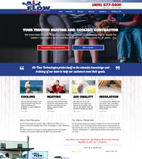 HVAC website - Air Flow Technologies in Yukon, OK - (405) 577-5400 - is an example of a PagePilot HVAC website design
