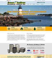 HVAC website - Breen and Sullivan Mechanical Services in Danvers, MA - (978) 777-1114 - is an example of a PagePilot HVAC website design