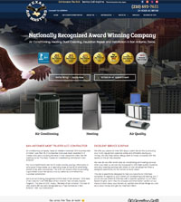 HVAC website - Texas Air Masters in San Antonio, TX - (210) 693-7651 - is an example of a PagePilot HVAC website design