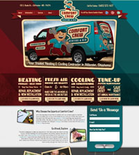HVAC website - Comfort Crew in Stillwater, OK - (405) 372-1477 - is an example of a PagePilot HVAC website design
