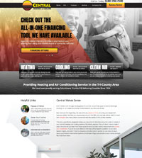 HVAC website - Central Heating & Cooling in Boardman, OH - (330) 782-7100- is an example of a PagePilot HVAC website design