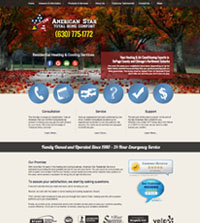 HVAC website - American Star Total Home Comfort in Itasca, IL - (630) 775-1772 - is an example of a PagePilot HVAC website design