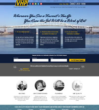 HVAC website - Vincent's Heating & Plumbing in Port Huron, MI - (888) 259-1998 - is an example of a PagePilot HVAC and plumbing website design