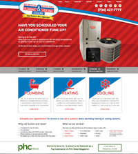 HVAC website - Burton & Sons Plumbing, Heating & Cooling in Garden City, MI - (734) 427-7777 - is an example of a PagePilot HVAC website design