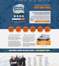 HVAC website - Climate Control Systems in Frankfort, IL - (815) 806-1055 - is an example of a PagePilot HVAC website design