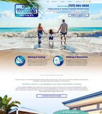 HVAC website - Tack & Warren Services in Clearwater, FL - (727) 641-5014 - is an example of a PagePilot HVAC website design