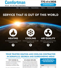 HVAC website - Able Heating & Cooling in Bangor, PA - (570) 856-7200 - is an example of a PagePilot HVAC website design