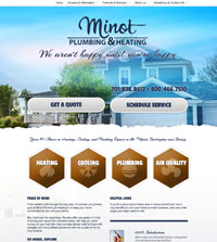 HVAC website - Minot Plumbing & Heating Concepts in Minot, ND - (701) 838-8612 - is an example of a PagePilot HVAC website design