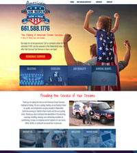 HVAC website - American Dream Services in Bakersfield, CA - (661) 558-1776 - is an example of a PagePilot HVAC website design