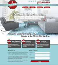 HVAC website - All Air Services in Conyers, GA - (770) 761-9914 - is an example of a PagePilot HVAC website design