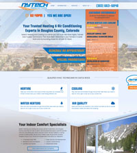 HVAC website - Nytech Heating & Cooling in Castle Rock, CO - (303) 663-6840 - is an example of a PagePilot HVAC website design