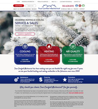 HVAC website - True Comfort Mechanical in Seaford, DE - (302) 628-8292 - is an example of a PagePilot HVAC website design