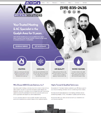 HVAC website - AIDO Climate Solutions, Inc. in Guelph, ON - (519) 835-2436 - is an example of a PagePilot Canadian HVAC website design