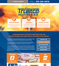 HVAC website - Trustco Heating & Air, Inc. in Philadelphia, PA - (215) 281-9376 - is an example of a PagePilot HVAC website design