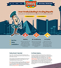 HVAC website - Century Air, Inc. in North Las Vegas, NV - (702) 649-9345 - is an example of a PagePilot plumbing website design