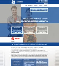 HVAC website - Rahman Heating, AC & Fireplace, IL - 507-710-4044 - is an example of a PagePilot HVAC website design