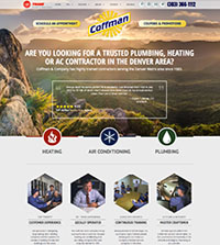 Plumbing website - Coffman in Wheat Ridge, CO - (303) 366-1112 - is an example of a PagePilot Plumbing website design