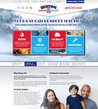 HVAC website - Kustom Heating & Cooling in Elgin, IL - (847) 915-3555 - is an example of a PagePilot HVAC website design