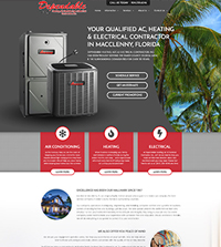 HVAC website - Dependable in Macclenny, FL - (904) 259-6546 - is an example of a PagePilot HVAC website design