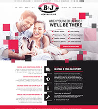 HVAC website - B&J Heating & Air in Fort Smith, AR - (479) 646-0284 - is an example of a PagePilot HVAC website design