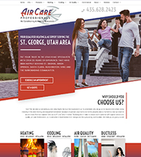 HVAC website - Air Care Professionals in St. George, UT - (435) 628-2423 - is an example of a PagePilot HVAC website design