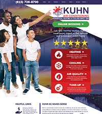 HVAC website - Kuhn Air Conditioning in Nashville, TN - (615) 726-8700 - is an example of a PagePilot HVAC website design