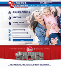 HVAC website - Muchow & South Central in Reedsburg, WI - (608) 524-6009 - is an example of a PagePilot HVAC website design