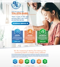 HVAC website - DGL Air Conditioning & Heating in Orange, CA - (714) 279-9480 - is an example of a PagePilot HVAC website design
