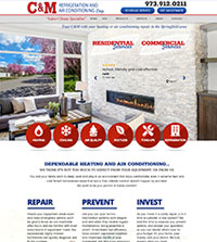 HVAC website - C&M Refrigeration & AC in Springfield, NJ - (973) 912-0211 - is an example of a PagePilot HVAC website design